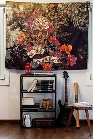 home-bath Duvar Örtüsü Skull Renkli